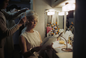 "Doris Day in her dressing room on the set of ""Lover Come Back""1961© 1978 Bob Willoughby - Image 0025_2539"