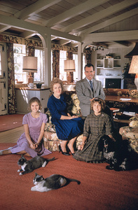 Richard Nixon and familyat home is Los Angeles, 1961 © 1978 Bob Willoughby - Image 0026_0012