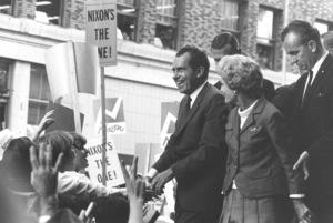 Richard Nixon for Presidentat Seattle, Washington (1968). © 2002 Ulvis Alberts - Image 0026_0031