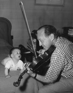 Jack Benny and grandson Michael (Joan Benny