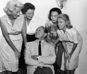 Jack Benny with Mrs. Ray Milland (Muriel Frances Weber), Mrs. Bob Hope (Dolores), Mrs. David Niven (Hjrdis Genberg) and Mrs. Dean Martin (Jeanne Martin)circa 1960sPhoto by Gabi Rona - Image 0028_0889
