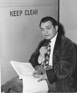 "Edward G. Robinson behind the scenesof ""Key Largo.""Photo by Mac Julian1948 Warner Bros. - Image 0029_0110"