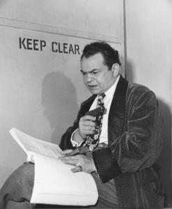 "Edward G. Robinson behind the scenesof ""Key Largo.""Photo by Mac Julian1948 Warner Bros. - Image 0029_0117"