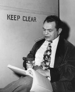 "Edward G. Robinson behind the scenesof ""Key Largo.""Photo by Mac Julian1948 Warner Bros. - Image 0029_0813"
