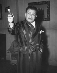 """Edward G. Robinson behind the scenes of """"Key Largo,"""" 1948. - Image 0029_0815"""