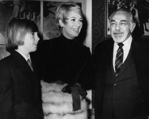 """Shirley Jones and son Shaun Cassidy atthe """"Scrooge"""" Premiere with Edward G. Robinson,c. 1970.Photo by Marv Newton - Image 0029_0819"""