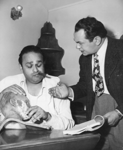 "Edward G. Robinson behind the scenesof ""Key Largo.""Photo by Mac Julian1948 Warner Bros. - Image 0029_0827"