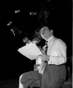 "Edward G. Robinson behind the scenes of""Key Largo.""1948 Warner Bros. - Image 0029_0833"