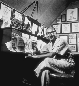 Sammy Cahn at home in Los Angeles, CA, 1959. © 1978 Sid Avery MPTV - Image 0031_0004