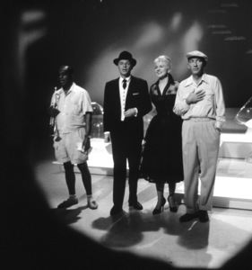 Louis Armstrong, Frank Sinatra, Peggy Lee & Bing Crosby on an ABC TV Special, 1959. © 1978 Sid Avery - Image 0031_0162