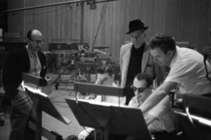 Sammy Cahn, Jimmy Van Heusen and Nelson Riddle in the recording studiocirca 1950s© 1978 Bernie Abramson - Image 0031_0164