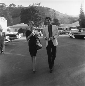 Anthony Perkins and Janet Leigh on the Universal Studios backlot1959© 1978 Sid Avery - Image 0032_0031