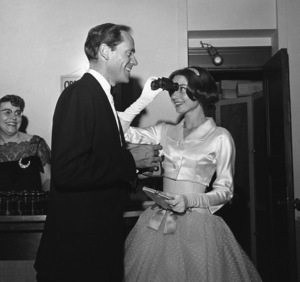 Audrey Hepburn and Mel Ferrer in Los Angeles1957 © 1978 Sid Avery - Image 0033_0064