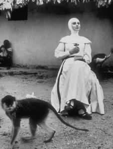 """Audrey Hepburn in """"A Nun"""