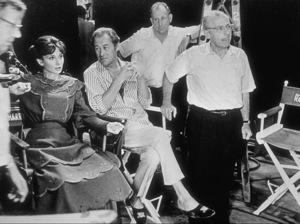 "Audrey Hepburn, Rex Harrison andGeorge Cukor on the set of ""My Fair Lady"" © 1978 AMPAS / Sanford Roth - Image 0033_0305"