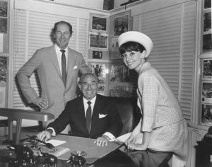 "Audrey Hepburn and Rex Harrison of ""My Fair Lady"" visit Jack Warner in his office1964 - Image 0033_0311"