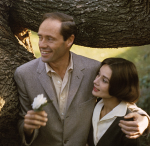 Mel Ferrer and Audrey Hepburn in Los Angeles, California1957 © 1978 Sid Avery - Image 0033_1058