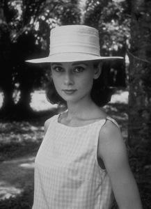 "Audrey Hepburn on location for ""A Nun"
