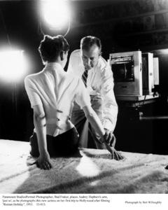 Audrey Hepburn with photographer Bud Fraker,  1953. © 1978 Bob Willoughby - Image 0033_1129