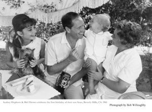 Audrey Hepburn, Mel Ferrer, Sean Ferrer, 1961. © 1978 Bob Willoughby - Image 0033_1134