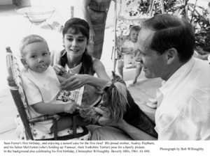 Audrey Hepburn, Mel Ferrer, Sean Ferrer, 1961. © 1978 Bob Willoughby - Image 0033_1136