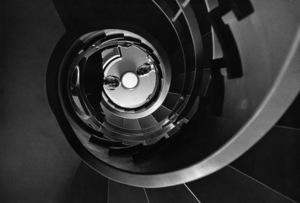 Audrey Hepburn and Mel Ferrer at the top of a spiral staircasecirca 1954 © 1978 Bill Avery - Image 0033_1144