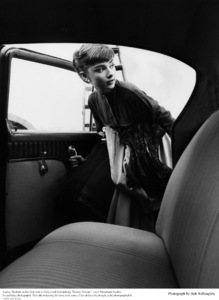 Audrey Hepburn getting into her car after a photo session at Paramount 1953 © 1978 Bob Willoughby - Image 0033_2236
