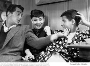 Audrey Hepburn with Dean M artin and Jerry Lewis, 1953. © 1978 Bob Willoughby - Image 0033_2341