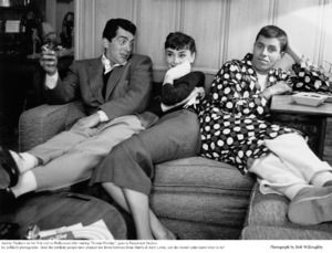 Audrey Hepburn with Dean Martin and Jerry Lewis, 1953. © 1978 Bob Willoughby - Image 0033_2342