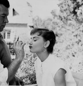 """Audrey Hepburn on the set of """"Sabrina"""" 1953© 2000 Mark Shaw  - Image 0033_2375"""