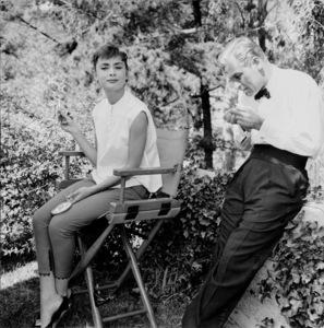"Audrey Hepburn and William Holden on the set of ""Sabrina"" 1953© 2000 Mark Shaw   - Image 0033_2378"