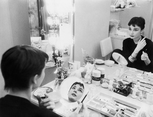 Audrey Hepburn photographed for Mademoiselle in 1954 in her dressing room backstage at Ondine1954© 2000 Mark Shaw - Image 0033_2379