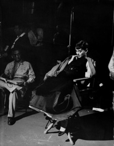 """Audrey Hepburn on the set of """"Sabrina"""" 1953© 2000 Mark Shaw  - Image 0033_2390"""