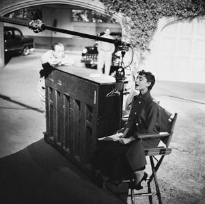 """Audrey Hepburn on the set of """"Sabrina""""1953© 2000 Mark Shaw - Image 0033_2394"""