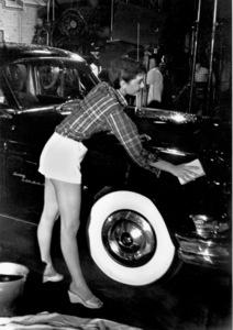 """Audrey Hepburn on the set of """"Sabrina"""" 1953© 2000 Mark Shaw  - Image 0033_2401"""
