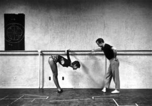 Audrey Hepburn with instructor Eugene Loring 1953© 2000 Mark Shaw - Image 0033_2413