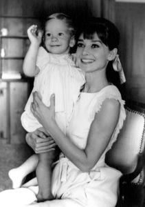 Audrey Hepburn with son SeanAt home 1961 © 1978 Bud Fraker - Image 0033_2463
