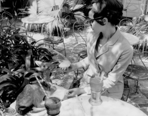 Audrey Hepburn with pet deer, Pippin1958 © 1978 Bob Willoughby - Image 0033_2478