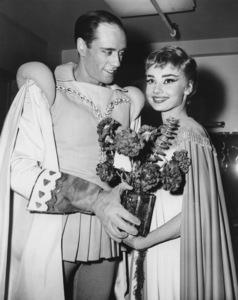 """Audrey Hepburn, Mel FerrerBackstage of  """"Ondine""""on  Broadway1954** I.V. - Image 0033_2489"""
