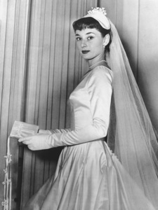 Audrey Hepburn in wedding dress she was to marry James Hanson in, the engagement was later broken off 1952**I.V. - Image 0033_2492