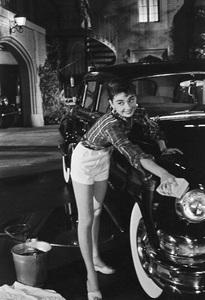 """Audrey Hepburn on the set of """"Sabrina""""1953© 2007 Mark Shaw - Image 0033_2522"""