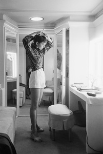 """Audrey Hepburn in her dressing room during the making of """"Sabrina""""1953© 2007 Mark Shaw - Image 0033_2524"""