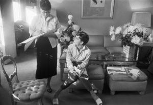 "Audrey Hepburn and Edith Head during the making of ""Sabrina""1953© 2000 Mark Shaw - Image 0033_2564"