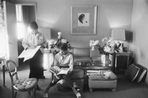 "Audrey Hepburn and Edith Head during the making of ""Sabrina""1953© 2000 Mark Shaw - Image 0033_2565"