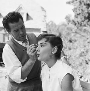 """Audrey Hepburn on the set of """"Sabrina""""1953© 2000 Mark Shaw - Image 0033_2569"""
