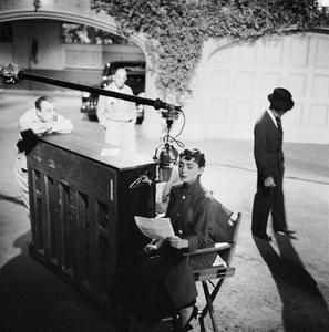 """Audrey Hepburn on the set of """"Sabrina""""1953© 2000 Mark Shaw - Image 0033_2573"""