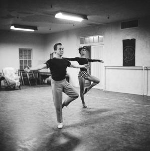Audrey Hepburn with instructor Eugene Loring1953© 2000 Mark Shaw - Image 0033_2577