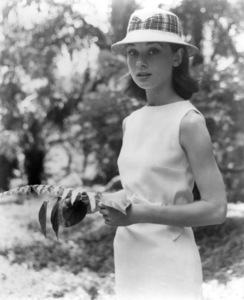 "Audrey Hepburn in the Belgian Congo during the making of ""The Nun"