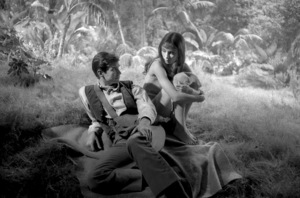 """Audrey Hepburn and Anthony Perkins on the set of """"Green Mansions""""  1958 © 1978 Bob Willoughby - Image 0033_2664"""