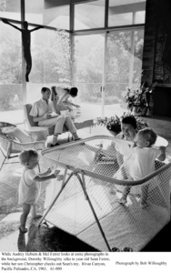 Audrey Hepburn, Mel Ferrer, Dorothy Willoughby, Sean Ferrer, Christopher Willoughby, 1961. © 1978 Bob Willoughby - Image 0033_4002